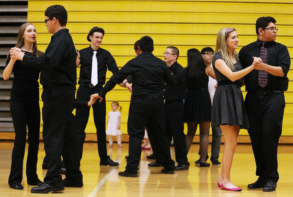 Students and family dance during Big Band Night at Friday at Grand Island Senior High. (Independent/Matt Dixon)