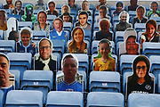 Cardboard cutouts of Millwall fans look on to the match actionduring EFL Sky Bet Championship between Millwall and Derby County at The Den Stadium, Saturday, June 20, 2020, in London, United Kingdom. (ESPA-Images/Image of Sport)
