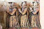 Village parish church Holbrook, Suffolk, England, UK - John Clenche tomb d 1607 kneeling daughters at prayer