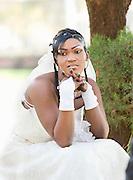 A bride on her wedding day in Bamako, Mali