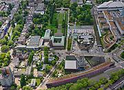 Nederland, Zuid-Holland, Rotterdam; 14-05-2020; Museumpark met Museum Boijmans Van Beuningen. Naast het Museum het Depot Boijmans van Beuningen in aanbouw (architect Winy Maas - MVRDV). Voorgrond Rochussenstraat met het Nieuwe Instituut (NAi - Nederlands Architectuur Instituut).<br /> Museumpark with Museum Boijmans Van Beuningen. Next to the Museum the Boijmans van Beuningen Depot is under construction (architect Winy Maas - MVRDV).<br /> <br /> luchtfoto (toeslag op standard tarieven);<br /> aerial photo (additional fee required)<br /> copyright © 2020 foto/photo Siebe Swart