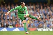 Goalkeeper Alex McCarthy of Crystal Palace taking a goal kick. Barclays Premier League, Chelsea v Crystal Palace at Stamford Bridge in London on Saturday 29th August 2015.<br /> pic by John Patrick Fletcher, Andrew Orchard sports photography.