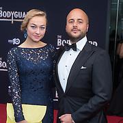 NLD/Utrecht/20150927 - Premiere musical The Bodyguard, Caroline Spoor en partner Jon Karthaus