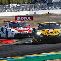 #89, Porsche 911 RSR, Team Project 1, drivers: Steve Brooks, Andreas Laskaratos, Julien Piguet, LM GTE Am, at the Le Mans 24H, 2020