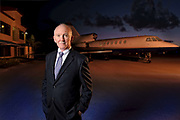 Former Airline Pilot turned aviation consultant on the tarmac at Whitham Field in Stuart Florida.