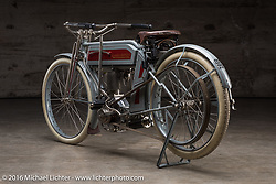 Restored Excelsior motorcycle at the Handbuilt Show. Austin, TX, USA. April 7, 2016.  Photography ©2016 Michael Lichter.