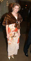 VISCOUNTESS LINLEY  at a private dinner to unveil the Van Cleef & Arpels jewellery collection 'Couture' with fashion by Anouska Hempel Couture held at The Banqueting House, Whitehall Palace, London on 8th March 2005.<br />