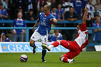 Photo: Pete Lorence.<br />Chesterfield Town v Wycombe Wanderers. Coca Cola League 2. 01/09/2007.<br />Tom Williams slides in on Phil Picken.