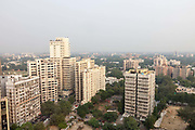 An overview of the skyline of New Delhi, India