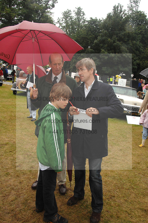 HRH the DUKE OF KENT, his son in law TIMOTHY TAYLOR and CASSIUS TAYLOR at the Cartier Style Et Luxe at the Goodwood Festival of Speed, Goodwood House, West Sussex on 24th June 2007.<br /><br />NON EXCLUSIVE - WORLD RIGHTS