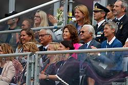 King Carl XVI Gustaf, Queen Silvia Sommerlath, De Vos Ingmar, BEL, De Vos Sabine, BEL<br /> FEI European Jumping Championships - Goteborg 2017 <br /> © Hippo Foto - Dirk Caremans<br /> 27/08/2017,