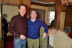 Left to right, Chocolatier WILLIE HARCOUR-COOZE and chef ROGER PIZEY at a lunch hosted by Fortnum & Mason, Piccadilly, London on 29th January 2015 in honour of Marco Pierre White and the publication of White Heat 25.