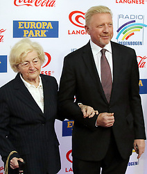 12.04.2019, Europa Park, Rust, GER, Radio Regenbogen Award 2019, im Bild Boris Becker (Ex-Tennisspieler) mit seiner Mutter // during the Radio Rainbow Award at the Europa Park in Rust, Germany on 2019/04/12. EXPA Pictures © 2019, PhotoCredit: EXPA/ Eibner-Pressefoto/ Joachim Hahne<br /> <br /> *****ATTENTION - OUT of GER*****