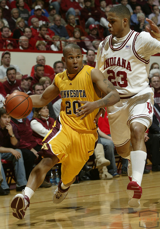 05 March 2008: Minnesota's Lawrence Westbrook (20) as the Indiana Hoosiers played the Minnesota Golden Gophers in a college basketball game in East Lansing, Mich.
