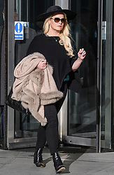 © Licensed to London News Pictures. 18/11/2019. London, UK. JENNIFER ARCURI leaves Broadcasting House after appearing on the Victoria Derbyshire show. ARCURI has given a series of interviews about her relationship with British Prime Minister Boris Johnson. Photo credit: Ben Cawthra/LNP