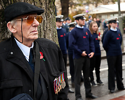 © under license to London News Pictures.  14/11/2010. Veterans and armed forces gather in the rain at the Rememberance Day Service Old Steine, Brighton.