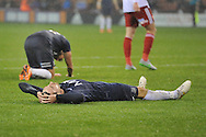Southend United midfielder David Worralll in dispare at Southend United midfielder Will Atkinson missing his shot at goal during the Sky Bet League 1 match between Sheffield Utd and Southend United at Bramall Lane, Sheffield, England on 14 November 2015. Photo by Ian Lyall.