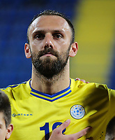 PODGORICA, MONTENEGRO - JUNE 07: Vedat Muriqi of Kosovo before the 2020 UEFA European Championships group A qualifying match between Montenegro and Kosovo at Podgorica City Stadium on June 7, 2019 in Podgorica, Montenegro MB Media