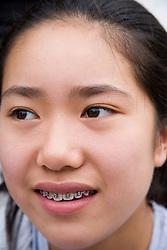 Portrait of  teenage girl,