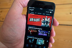 Detail of Amazon Prime Video  app on a smart phone screen