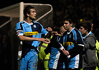 Photo: Richard Lane.<br />Cheltenham Town v Wycombe Wanderers. Coca Cola League 2. Play off Semi Final, 2nd Leg. 18/05/2006. <br />Wycombe's Roger Johnson is applauded by the fans despite losing.