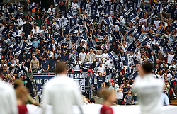 Tottenham Hotspur fans in the stands during the Emirates FA Cup semi-final match at Wembley Stadium, London.