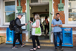 London, UK. 22 May, 2019. Green Party activists campaign for the European elections in Gipsy Hill, Lambeth. After Gibraltar, Lambeth is the most pro-Remain area of the UK with 78.6% having voted Remain in 2016. There was a large swing to the Green Party in Gipsy Hill, historically a safe Labour seat, in May 2018 when Pete Elliott was elected as a Green councillor.