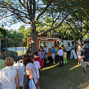 August 19, 2014, New Haven, CT:<br /> Food Trucks are shown on day five of the 2014 Connecticut Open at the Yale University Tennis Center in New Haven, Connecticut Tuesday, August 19, 2014.<br /> (Photo by Billie Weiss/Connecticut Open)