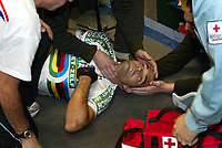 Sykkel<br /> Foto: Dppi/Digitalsport<br /> NORWAY ONLY<br /> <br /> TRACK CYCLING - GHENT / GAND (BEL) - SIX DAYS OF GHENT / SIX JOURS DE GAND - 25/11/2006 - <br /> <br /> DEADLY FALL OF SPANISH RIDER ISAAC GALVEZ (ESP) / 31 YEARS OLD