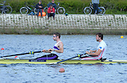 Reading. United Kingdom. GBR M2-, Bow. Alan SINCLAIR and Nathaniel REILLY-O'DONNELL, morning time trial, Redgrave and Pinsent Rowing Lake. Caversham.<br /> <br /> 11:06:01  Saturday  19/04/2014<br /> <br />  [Mandatory Credit: Peter Spurrier/Intersport<br /> Images]