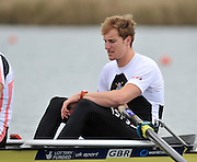 Eton, United Kingdom  GBR M2- Bow. George NASH, at the start of their heat of the men's pair at the 2012 GB Rowing Senior Trials, Dorney Lake. Nr Windsor, Berks.  Saturday  10/03/2012  [Mandatory Credit; Peter Spurrier/Intersport-images]