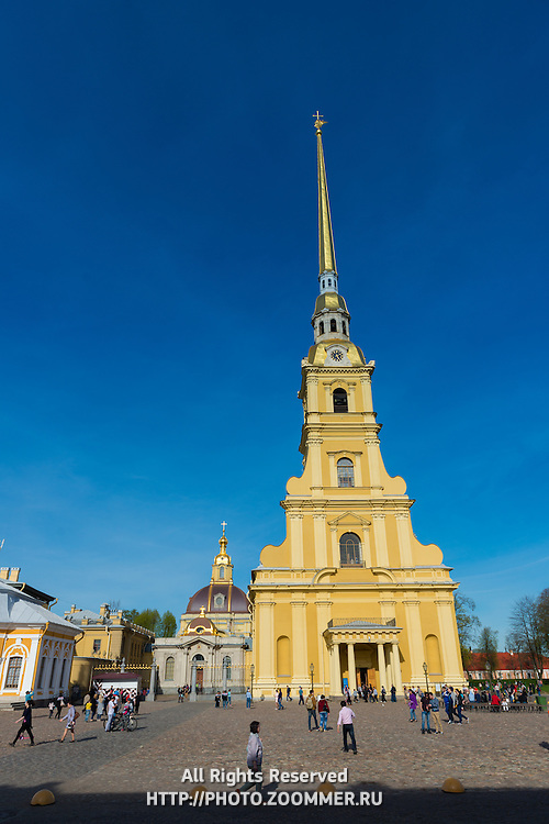 Peter And Paul Fortress On Neva River In Saint Petersburg, Russia