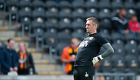 Hull City's Allan McGregor during the pre-match warm-up <br /> <br /> Photographer Chris Vaughan/CameraSport<br /> <br /> Football - Barclays Premiership - Hull City v Manchester United - Sunday 24th May 2015 - Kingston Communications Stadium - Hull<br /> <br /> © CameraSport - 43 Linden Ave. Countesthorpe. Leicester. England. LE8 5PG - Tel: +44 (0) 116 277 4147 - admin@camerasport.com - www.camerasport.com