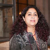 """Anita Nair, Indian-English writer at the """"Casa Della Letteratura"""", Rome, Italy. Taken 15th December 2011<br /> <br /> Picture by Steve Bisgrove/Writer Pictures<br /> <br /> WORLD RIGHTS"""