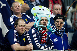 Supporters of Scotland during friendly football match between National teams of Slovenia and Scotland, on February 29, 2012 in Stadium Bonifika, Koper, Slovenia.  (Photo By Vid Ponikvar / Sportida.com)