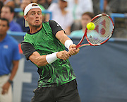 LLEYTON HEWITT of Australia plays against John-Patrick Smith of Australia at Day 2 of the Citi Open at the Rock Creek Tennis Center in Washington, D.C.