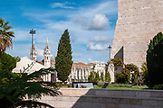 The Jeronimos Monastery Belem, Lisbon, Portugal. The Art Museum on the right