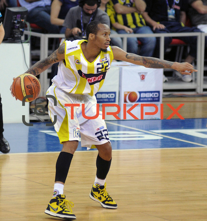 Fenerbahce Ulker's Tarence Anthony KINSEY during their Turkish Basketball league Play Off Final third leg match Fenerbahce Ulker between Efes Pilsen at the Abdi Ipekci Arena in Istanbul Turkey on Tuesday 25 May 2010. Photo by TURKPIX