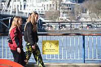 People out in london as the lockdown rules change Millennium Bridge, London Kobold Elek