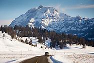 Road through Lamar Valley, Yellowstone National Park