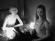 Malin Persson and Kiera Chaplin. Lady Victoria Hervey party. Saint Martins Lane Hotel. 12 December 2000 © Copyright Photograph by Dafydd Jones 66 Stockwell Park Rd. London SW9 0DA Tel 020 7733 0108 www.dafjones.com
