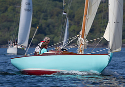 Sailing - SCOTLAND  - 25th May 2018<br /> <br /> Opening days racing the Scottish Series 2018, organised by the  Clyde Cruising Club, with racing on Loch Fyne from 25th-28th May 2018<br /> <br /> 9, Gigha, Scott Raeburn, Kyles of Bute SC, Scottish Island Class<br /> <br /> Credit : Marc Turner<br /> <br /> Event is supported by Helly Hansen, Luddon, Silvers Marine, Tunnocks, Hempel and Argyll & Bute Council along with Bowmore, The Botanist and The Botanist