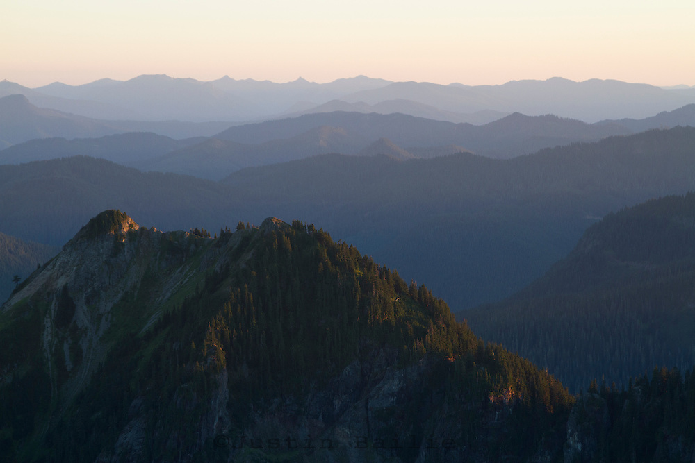 Looking west from Mt. Rainier National Park, WA.