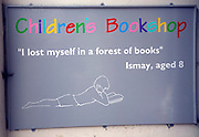 Children's bookshop sign