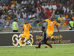 10032018 (Durban) Kaizer Chiefs Willard Katsande playing against Stellenbosch FC Sekela Sithole to advance to the next round of the Nedbank Cup when hosting Stellenbosch FC at the Moses Mabhida Stadium. Amakhosi went down 3-1 to arch-rivals Orlando Pirates in a tense Soweto derby match last weekend where they lost ground in their league title chase.Picture: Motshwari Mofokeng/African News Agency/ANA