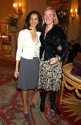Left to right, FIZZY BARCLAY and DORA LOEWENSTEIN at a ladies lunch in aid of the NSPCC held at The Ritz, Piccadilly, London on 7th March 2006.<br /><br />NON EXCLUSIVE - WORLD RIGHTS