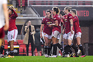 GOAL 1-0. Manchester United Women forward Ella Toone (7) scores a goal and celebrates to make the score 1-0 during the FA Women's Super League match between Manchester United Women and Arsenal Women FC at Leigh Sports Village, Leigh, United Kingdom on 8 November 2020.