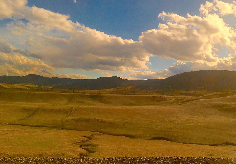 Amtrak Zephyr land scape view, Arvada, Colorado