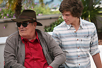 director Bernardo Bertolucci, actor Jacopo Olmo Antinori  at the IO E TE film photocall at the 65th Cannes Film Festival France. Wednesday 23rd May 2012 in Cannes Film Festival, France.