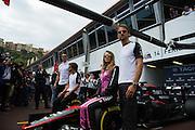 May 20-24, 2015: Monaco Grand Prix: Fernando Alonso (SPA), McLaren Honda, Jenson Button (GBR), McLaren Honda pose with Cara Delevingne and Cristiano Ronaldo